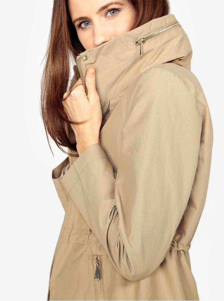 Béžová dámská bunda se skrytou kapucí s.Oliver