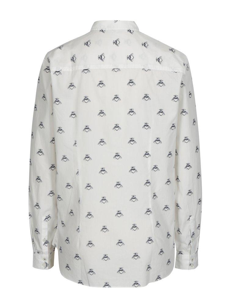 Camasa crem cu print pentru femei - Tom Joule Lucie