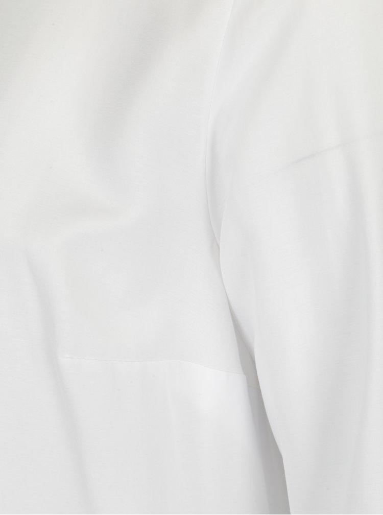 Bílá halenka s řasením a dlouhým rukávem Ulla Popken