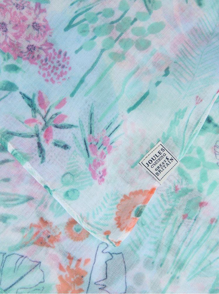 Krémovo-zelený květovaný šátek Tom Joule Wensley