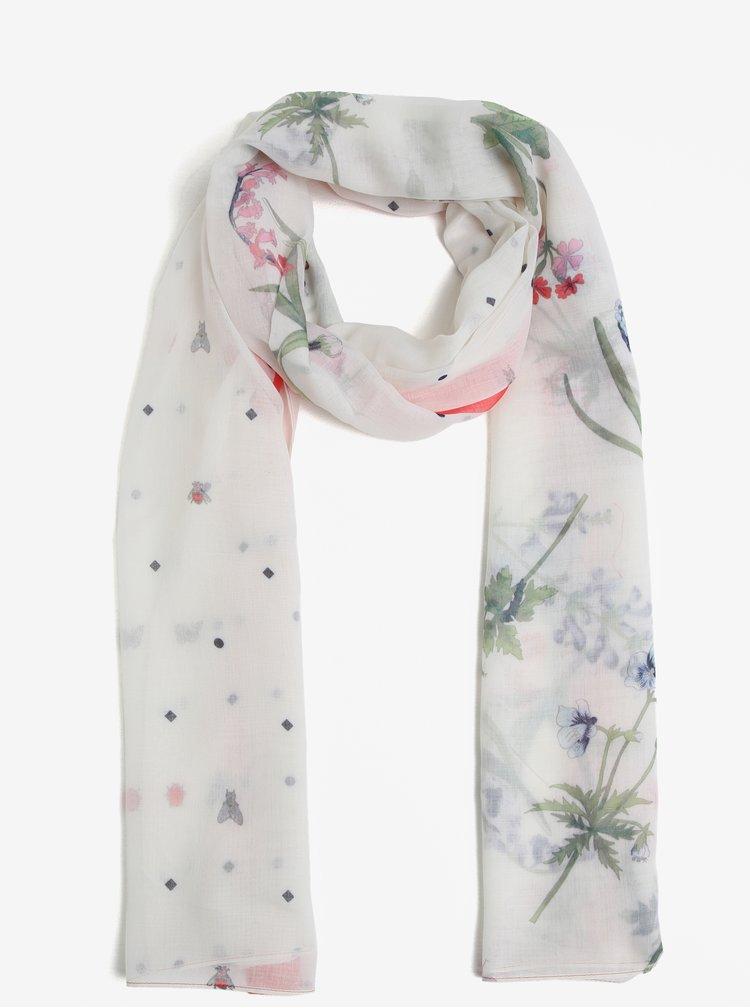 Krémový vzorovaný šátek Tom Joule Wensley