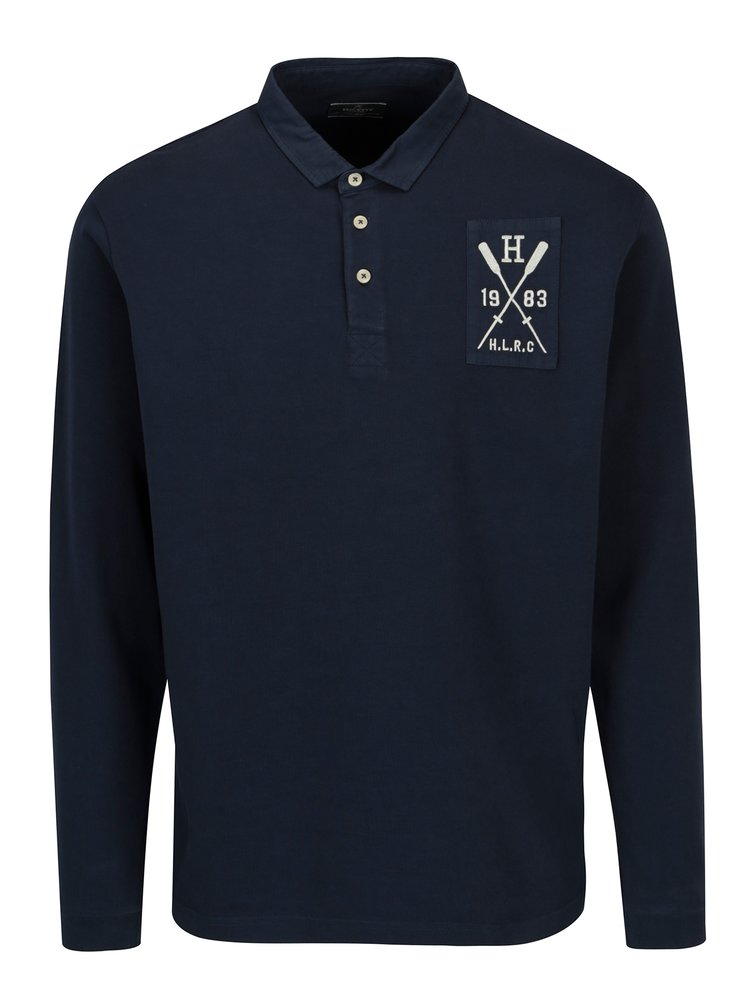 Bluza polo bleumarin - Hackett London
