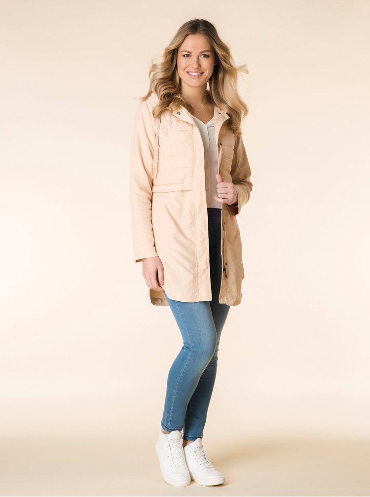 Béžový prošívaný kabát Yest