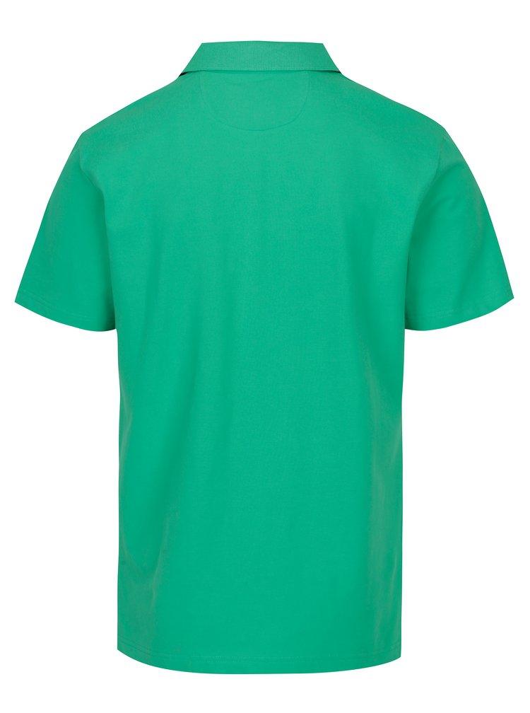 Zelené slim fit  polo tričko s výšivkou Hackett London Swim