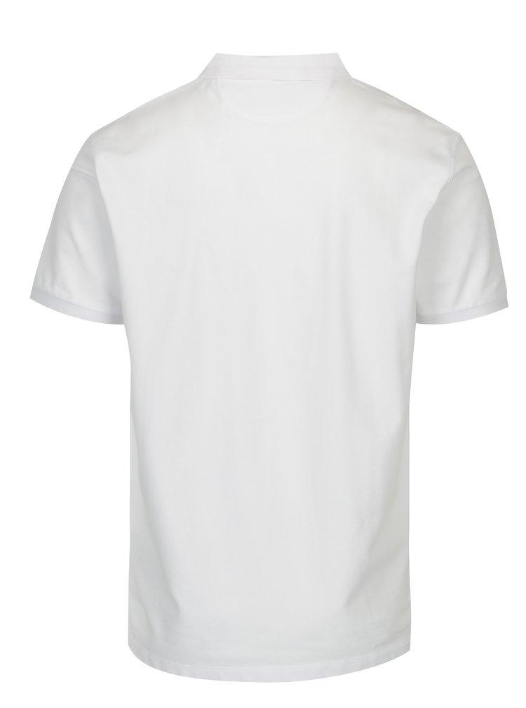 Bílé polo tričko s výšivkou Hackett London New Classic