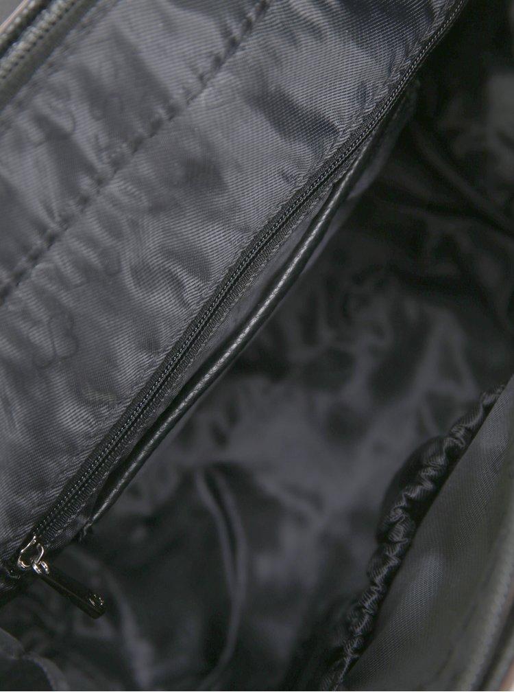 Rucsac negru cu fermoare decorative - Bessie London