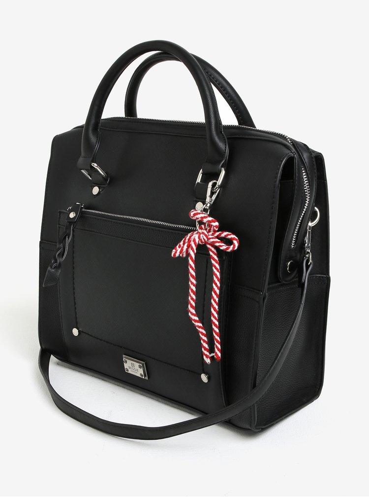Černá velká kabelka se dvěma popruhy Bessie London