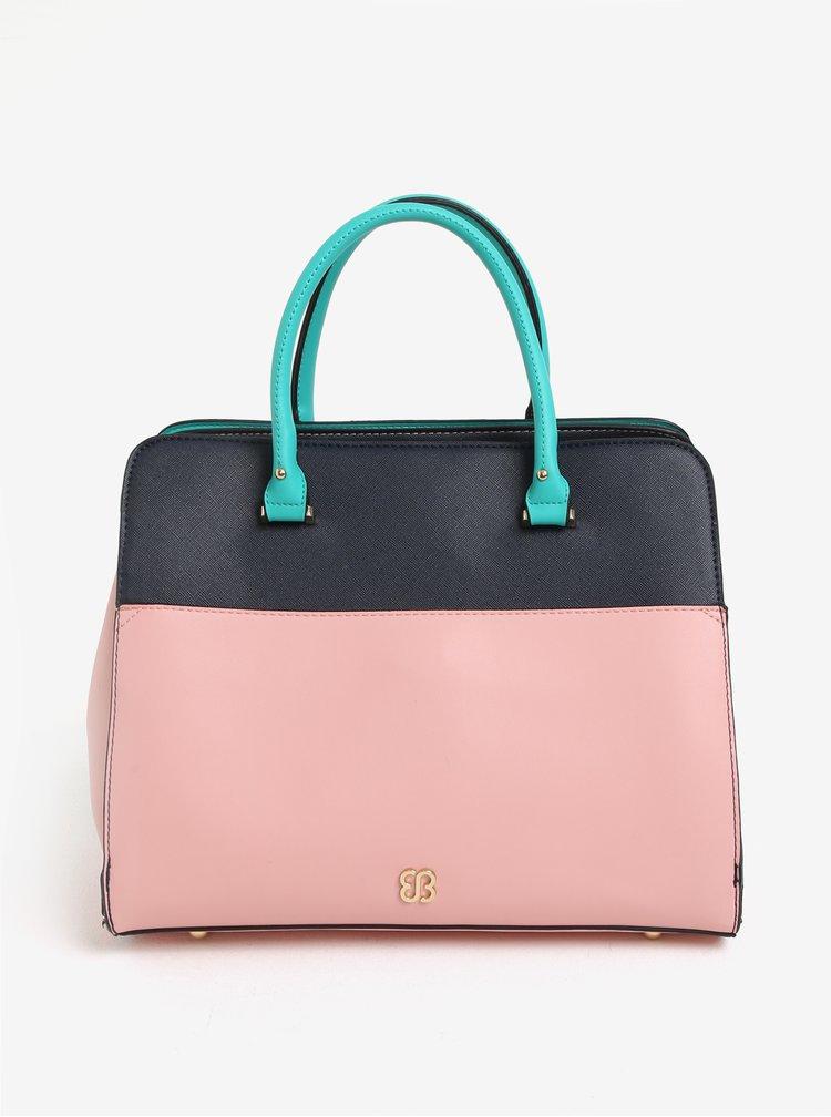 Mentolovo-modrá kabelka Bessie London