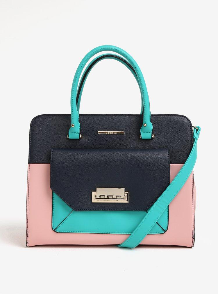 Geanta color block bleumarin & roz - Bessie London