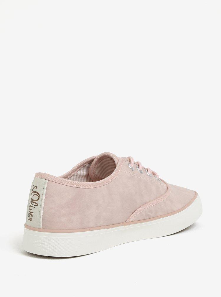 Světle růžové dámské tenisky s.Oliver