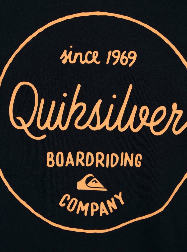 Tricou bleumarin cu print text pentru barbati - Quiksilver