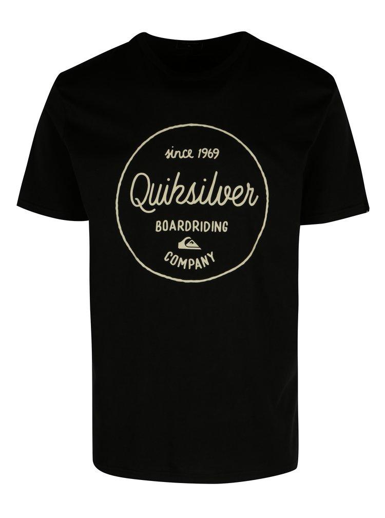 Tricou negru cu print text pentru barbati - Quiksilver