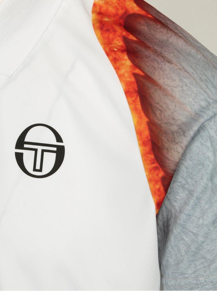 Bílé pánské funkční polo tričko Sergio Tacchini Magma