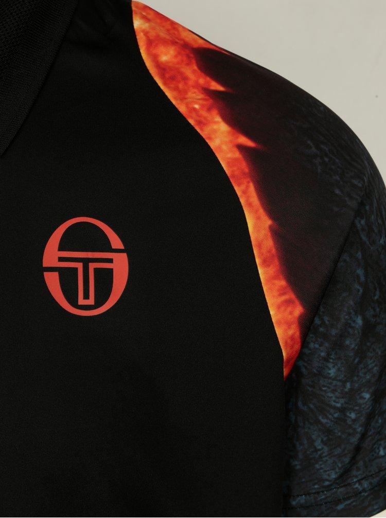 Černé pánské funkční polo tričko Sergio Tacchini Magma