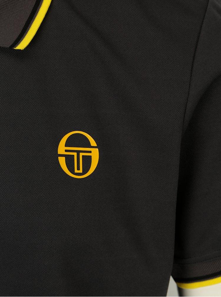 Tmavě šedé polo tričko Sergio Tacchini Reed