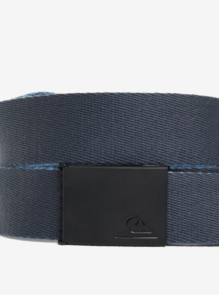 Modrý žíhaný oboustranný pánský textilní pásek Quiksilver