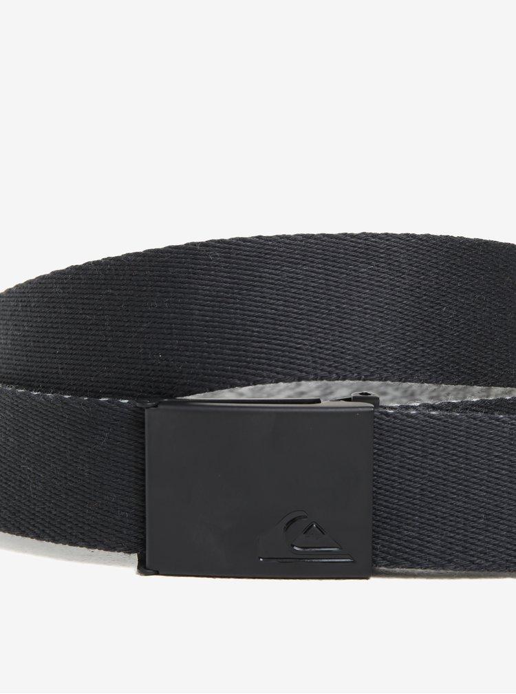 Šedý žíhaný oboustranný pánský textilní pásek Quiksilver