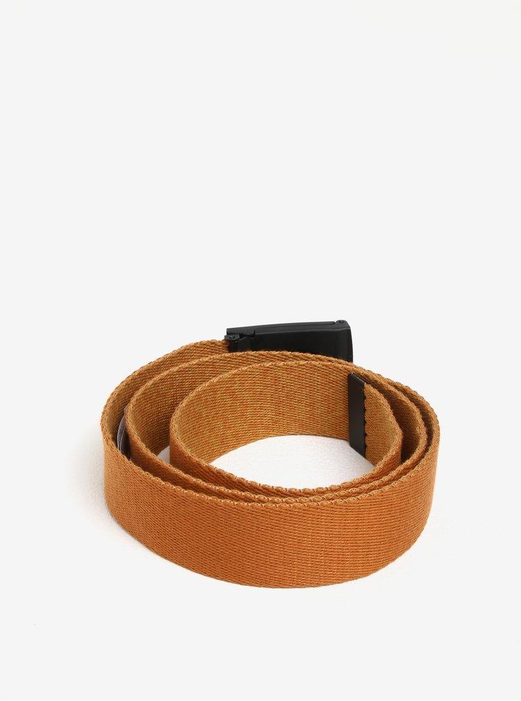Hnědý pánský oboustranný textilní pásek Quiksilver