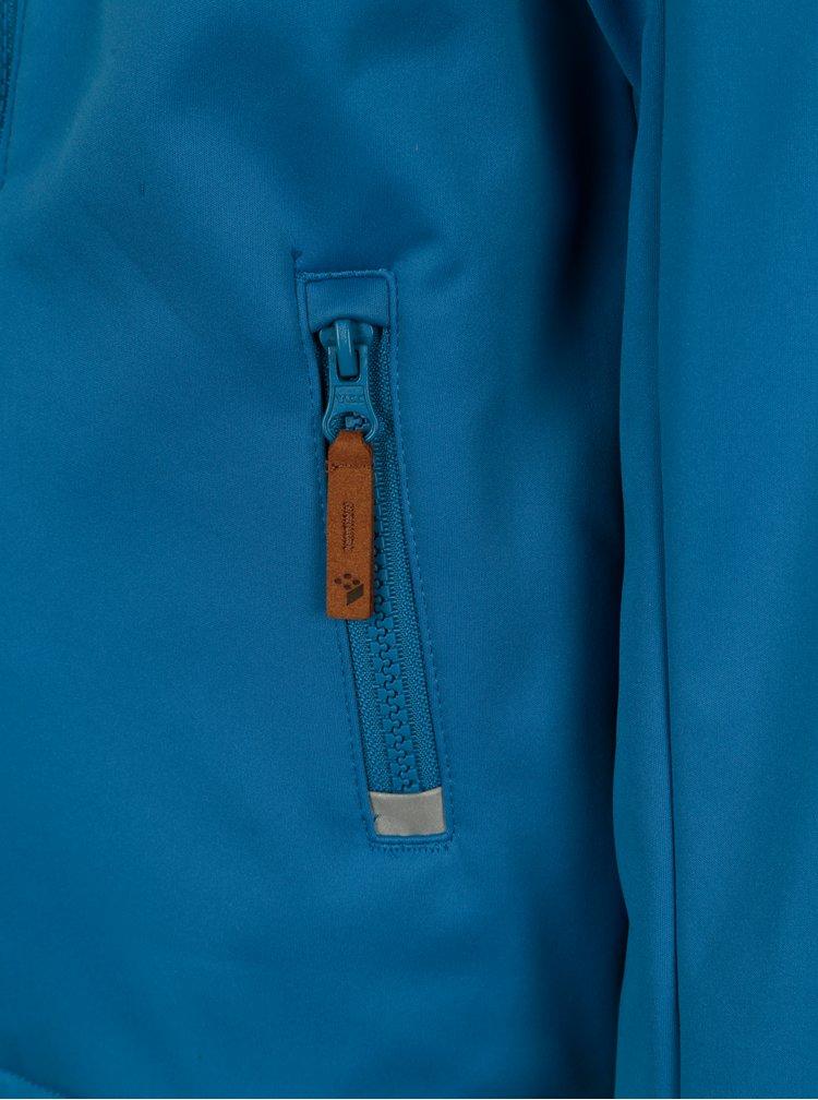 Modrá klučičí softshellová bunda s kapucí a kouzelným potiskem Lego Wear Sebastian