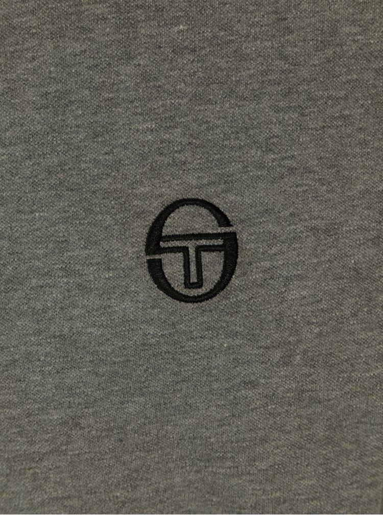 Šedé pánské polo tričko s výšivkou Sergio Tacchini Sergio