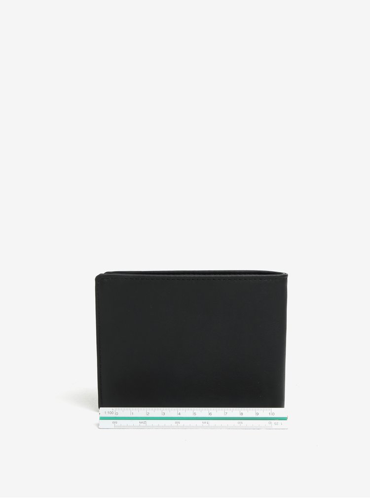 Černá pánská kožená peněženka Quiksilver