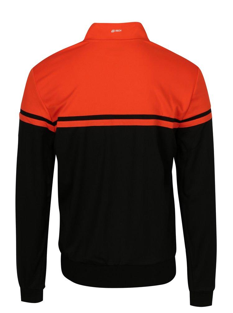 Oranžovo-černá pánská sportovní mikina Sergio Tacchini Young Line