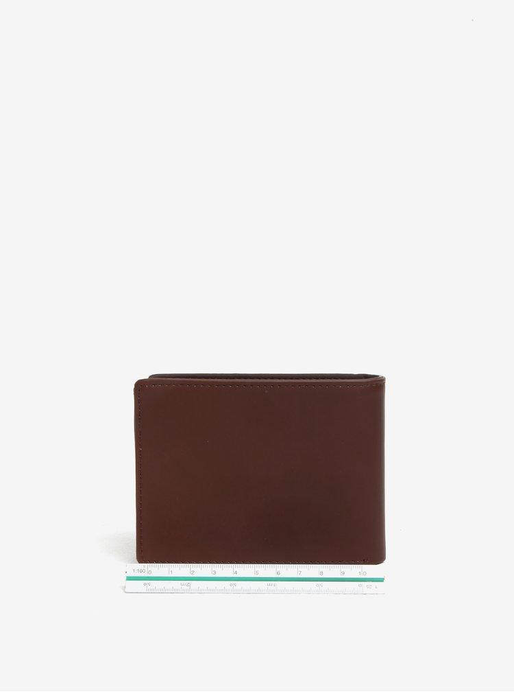 Hnědá kožená pánská peněženka Quiksilver