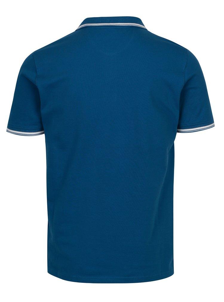 Tricou polo albastru cu broderie pentru barbati - Sergio Tacchini Sergio