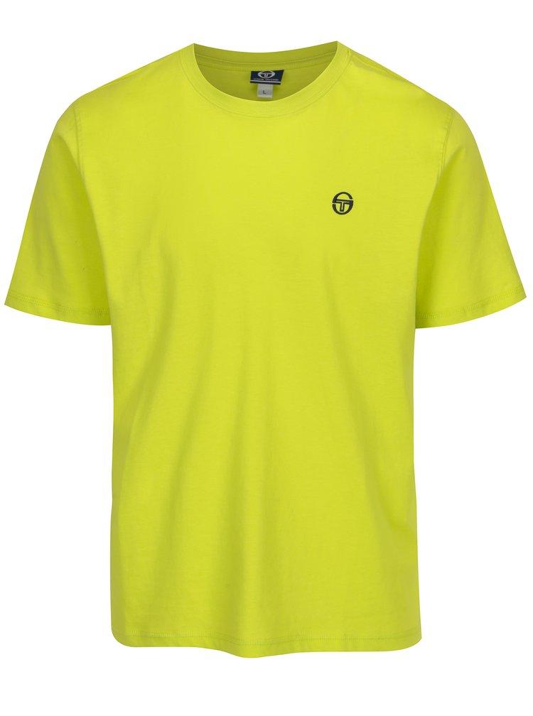Tricou galben neon cu logo Sergio Tacchini Daiocco