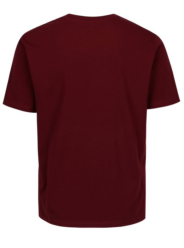 Vínové pánské tričko s výšivkou Sergio Tacchini Daiocco