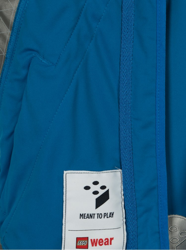 Modrá klučičí funkční voděodolná bunda s kapucí Lego Wear Sebastian