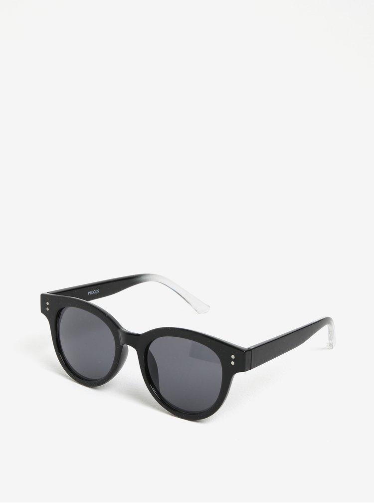 Černé sluneční brýle Pieces Minny