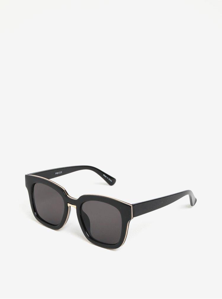 Černé sluneční brýle Pieces Marline