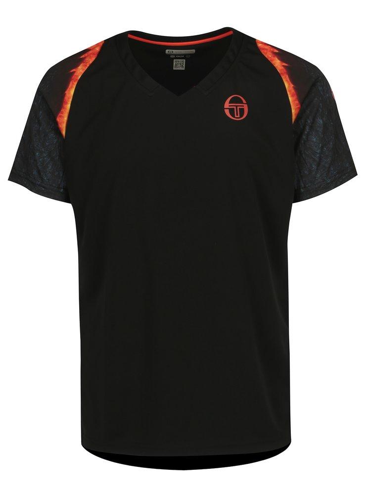 Černé pánské sportovní tričko Sergio Tacchini Magma