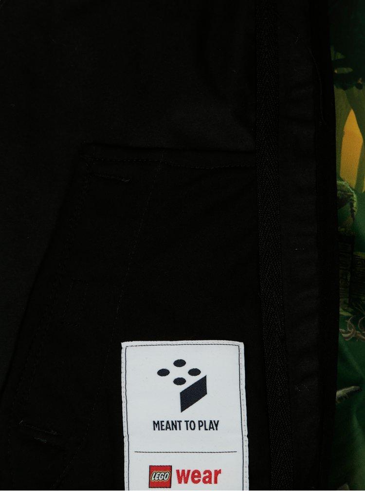 Tmavě zelená klučičí softshellová bunda s potiskem Lego Wear Sebastian