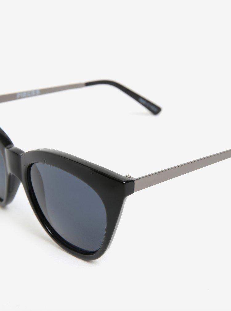 Černé sluneční brýle Pieces Melika