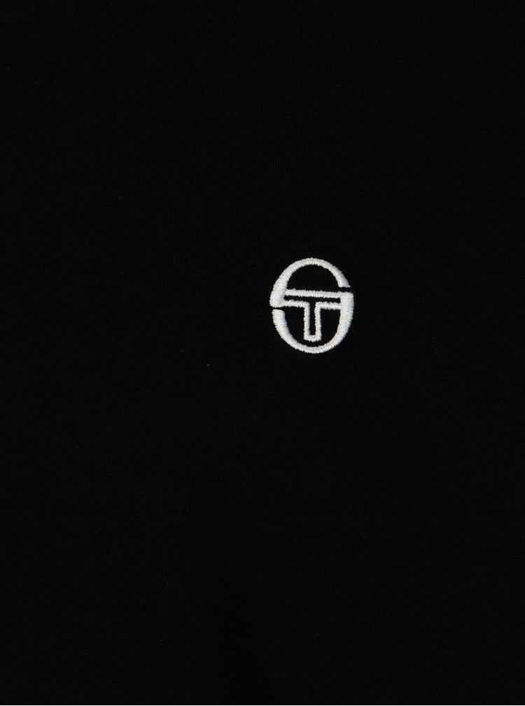 Černé pánské tričko s výšivkou Sergio Tacchini Daiocco
