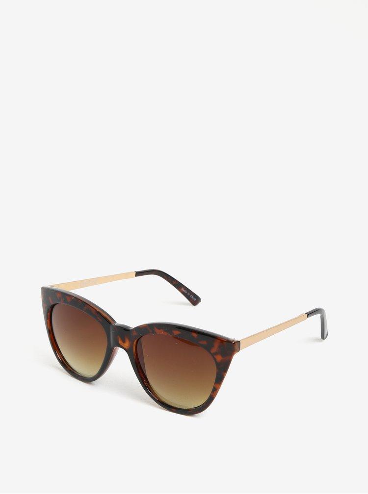 Hnědo-černé vzorované sluneční brýle Pieces Melika