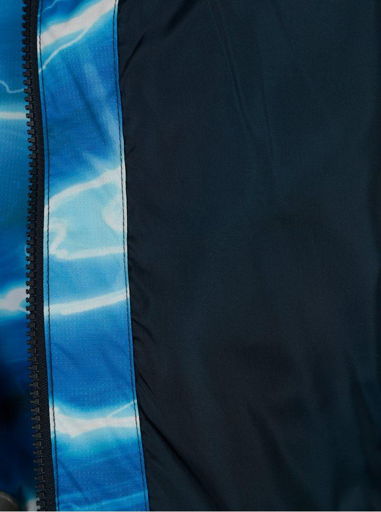 Tmavě modrá klučičí funkční voděodolná bunda s potiskem Lego Wear Jakob