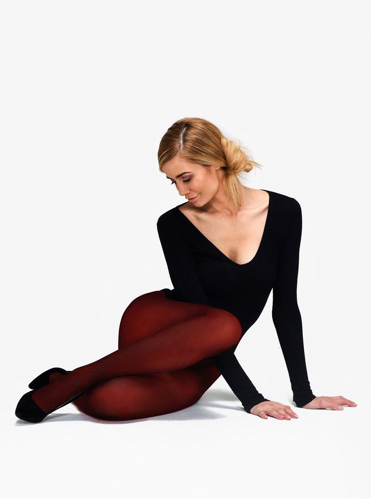 Vínové punčochové kalhoty Andrea Bucci 80 DEN
