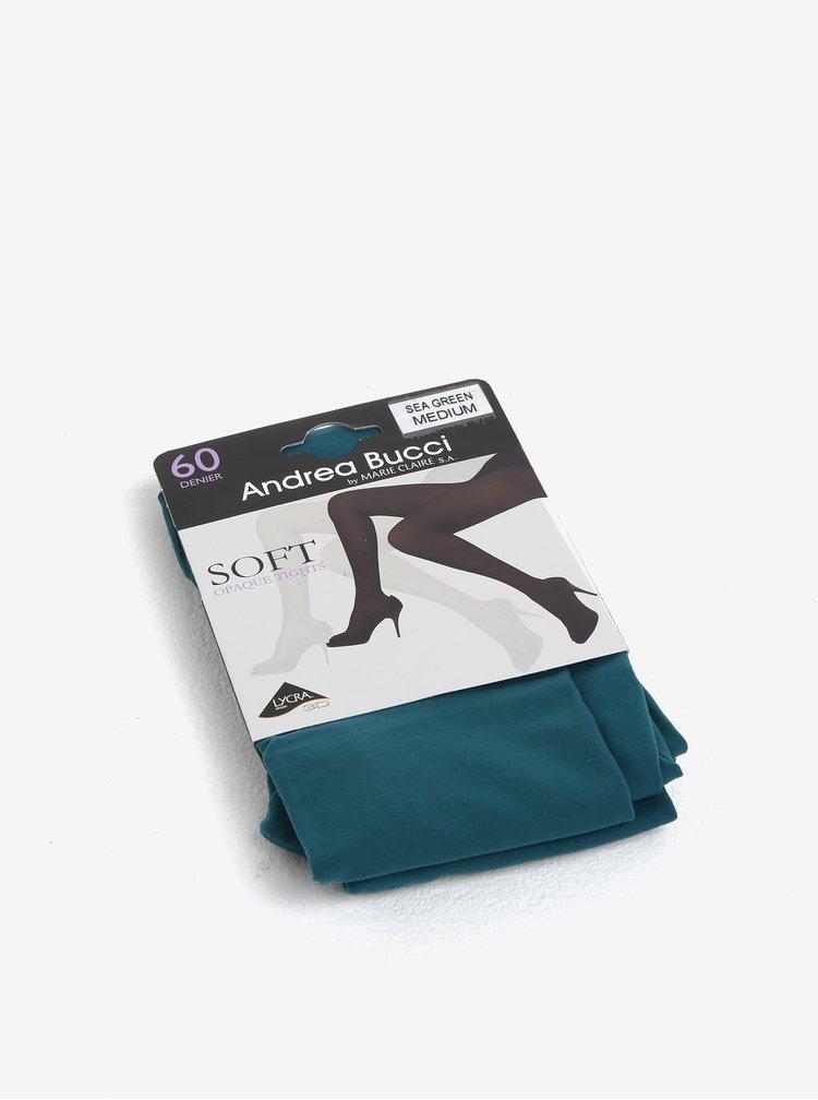 Petrolejové punčochové kalhoty Andrea Bucci 60 DEN