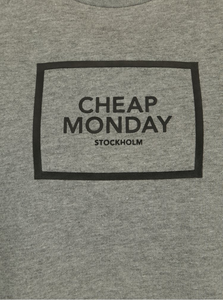 Šedá dámská volná mikina s potiskem Cheap Monday