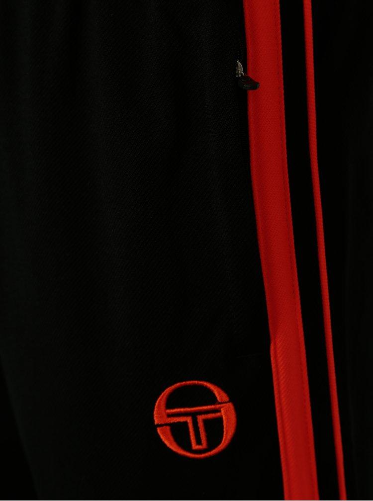 Pantaloni sport negri cu fermoare la terminatii pentru barbati -  Sergio Tacchini Young Line