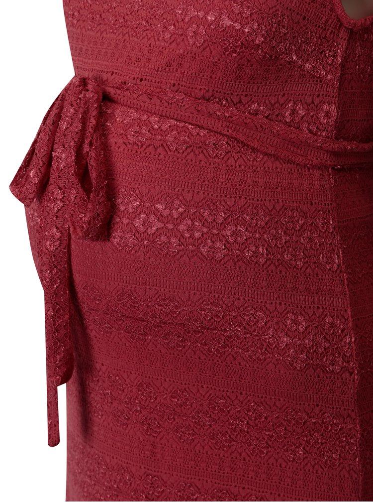 Růžové krajkové těhotenské šaty Mama.licious Cabrini