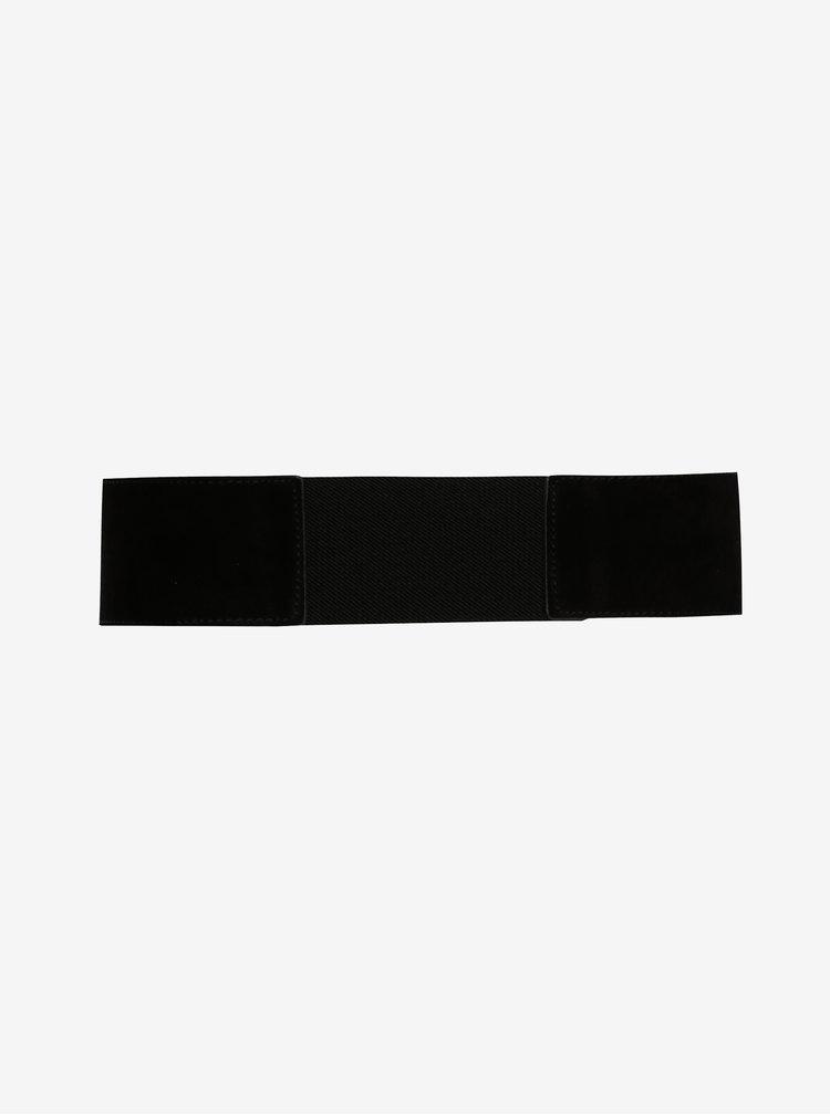 Černý semišový pásek Pieces Issa
