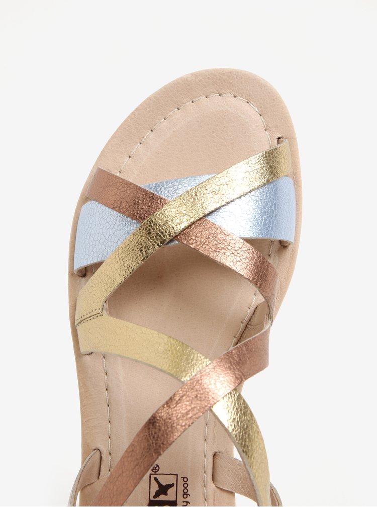 Kožené dámské sandály ve stříbrné, bronzové a zlaté barvě Pikolinos Valencia