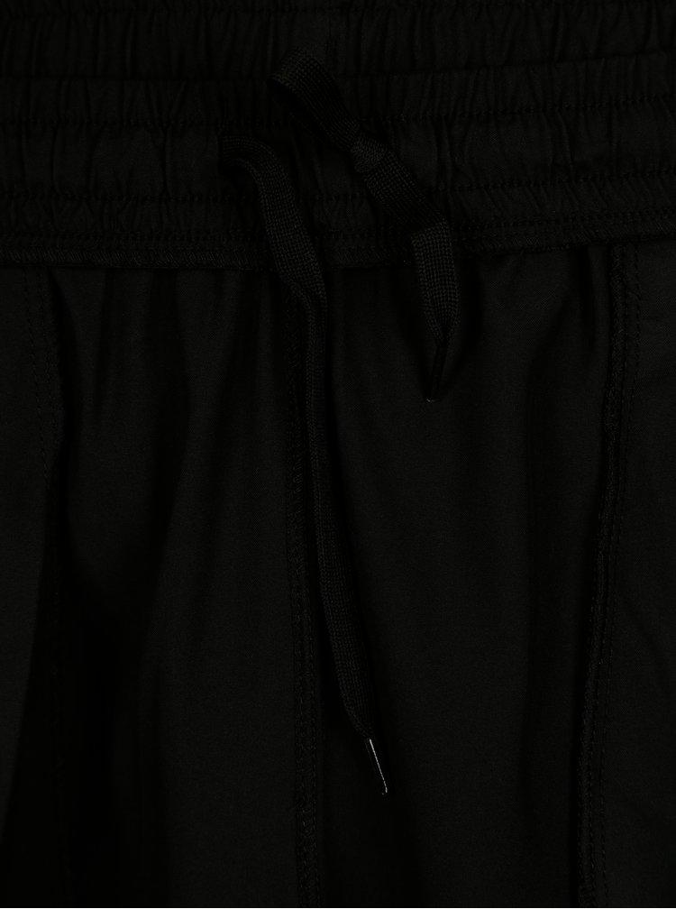 Pantaloni scurti negri cu dunga contrastanta pentru barbati - Sergio Tacchini Line