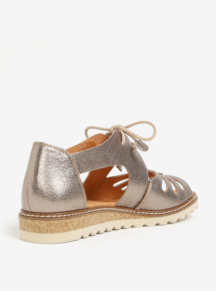 Kožené sandály ve stříbrné barvě Pikolinos Alcudia