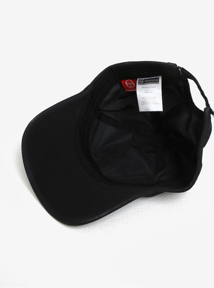 Černá pánská kšiltovka s výšivkou Sergio Tacchini Pro