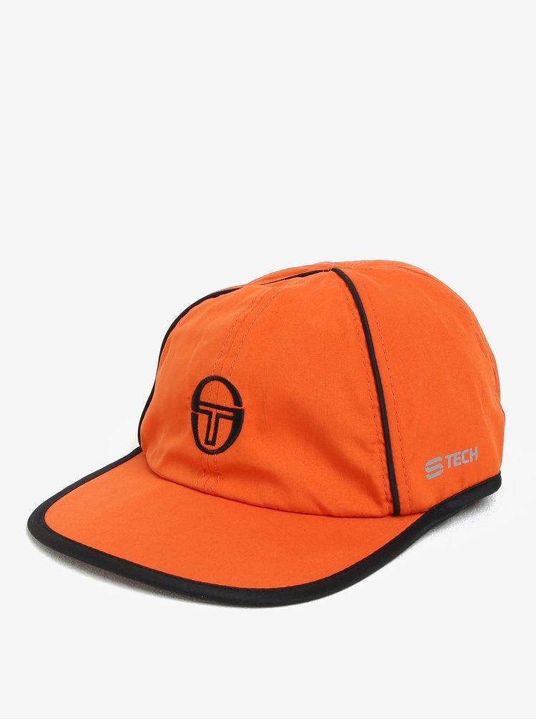 Oranžová pánská kšiltovka s výšivkou Sergio Tacchini Club Tech